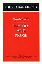 Bertolt Brecht : poetry and prose