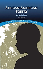 African-American poetry : an anthology, 1773-1927
