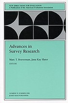Advances in survey research