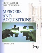 Mergers and acquisitions : text and cases