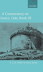 A commentary on Horace: Odes, book 1