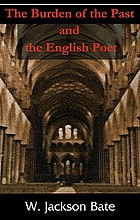The burden of the past and the English poet