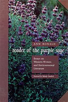Reader of the purple sage essays on Western writers and environmental literature
