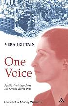 One voice : pacifist writings from the Second World War