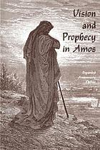 Vision and prophecy in Amos
