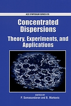 Concentrated dispersions : theory, experiment, and applications