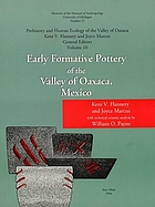 Early formative pottery of the Valley of Oaxaca