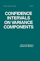 Confidence intervals on variance components