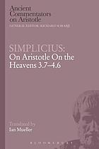 On Aristotle On the heavens 3.7-4.6