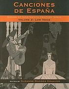 Canciones de España : songs of nineteenth-century Spain