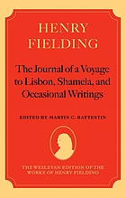 The journal of a voyage to Lisbon, Shamela, and occasional writings
