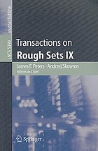 Transactions on Rough Sets