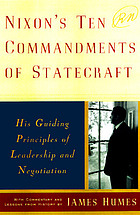 Nixon's ten commandments of statecraft