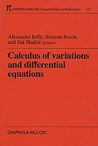 Calculus of variations and differential equations : Technion 1998Calculus of variations and differential equations