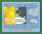 Weather words and what they mean