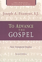 To advance the Gospel : New Testament studies