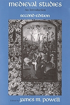 Medieval studies : an introduction. James M. Powell, editor