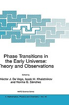 Phase transitions in the early universe : theory and observations