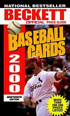 The official 2000 price guide to baseball cards