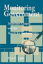Monitoring government : inspectors general and the search for accountability