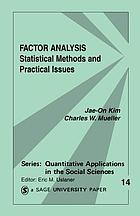 Factor analysis : statistical methods and practical issuesFactor analysis : statist. methods and pract. issues