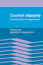 Cournot oligopoly : characterization and applications