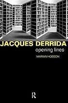 Jacques Derrida : opening lines