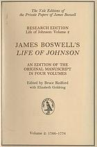James Boswell's Life of Johnson an edition of the original manuscript