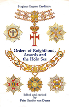 Orders of knighthood, awards, and the Holy See