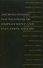Microeconomic foundations of employment and inflation theory