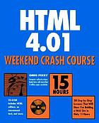 HTML 4.01 weekend crash course