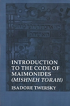 Introduction to the Code of Maimonides (Mishneh Torah)