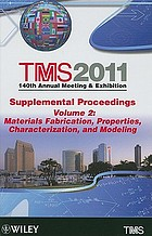 TMS 2011 140th annual meeting & exhibition : supplemental proceedings