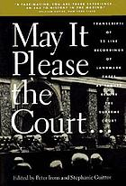 May it please the court : the most significant oral arguments made before the Supreme Court since 1955