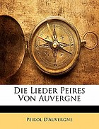 Die lieder Peires von Auvergne