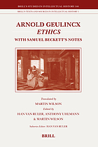 Arnold Geulincx' Ethics With Samuel Beckett's Notes
