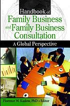 Handbook of family business and family business consultation : a global perspective
