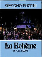La Bohème : : an opera in four acts