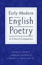 Early modern English poetry : a critical companion