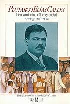 Pensamiento político y social : antología (1913-1936)