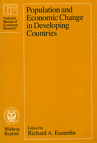 Population and economic change in developing countries