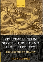 Starting lines in Scottish, Irish, and English poetry : from Burns to Heaney