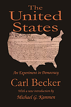 The United States; an experiment in democracy
