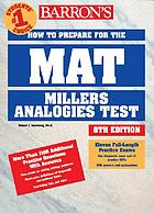 Barron's how to prepare for the MAT, Miller analogies test