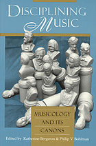 Musicology and its canons