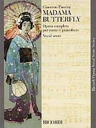 Madama Butterfly : opera in three acts