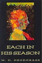 Each in his season : poems