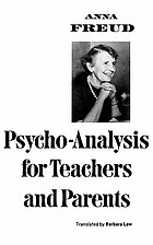 Psycho-analysis for teachers and parents; introductory lectures