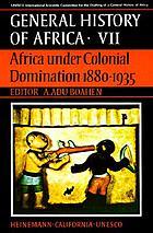 Africa under colonial domination 1880-1935