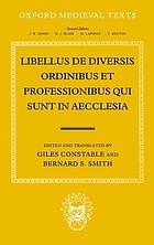 Libellus de diversis ordinibus et professionibus qui sunt in aecclesia